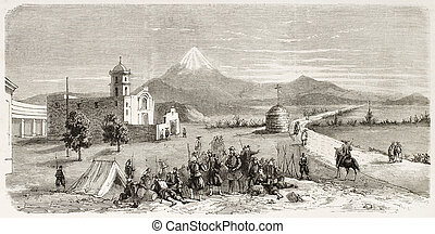 Ojotepec - French intervention in Mexico: troops in...