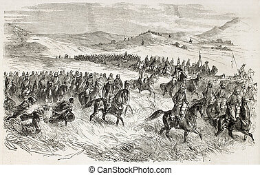 Supplies convoy - French intervention in Mexico: supplies...