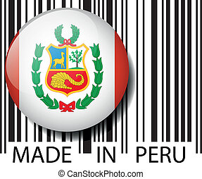 Made in Peru barcode Vector illustration