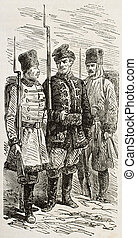 Polish riflemen old illustration Created by Gaildrau,...