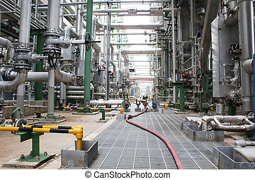Process aria of chemical industrial plant