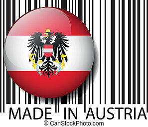 Made in Austria barcode Vector illustration