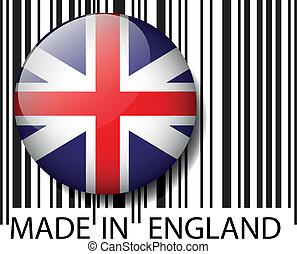 Made in England barcode Vector illustration