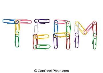 """office supply - word \\\""""team\\\"""" made with multicolored..."""