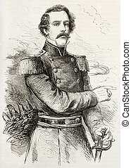 Lee - General Robert Edward Lee old engraved portrait...