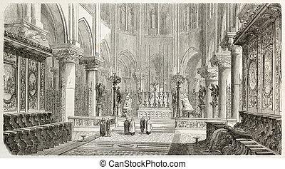 Notre-Dame sanctuary new decoration, Paris. Created by...