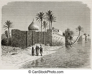 Ezra tomb - Ezras tomb old view, Iraq Created by De Bar...