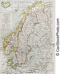 Scandinavia political map eith Iceland insert map. By Paul...