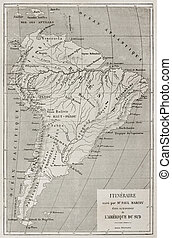 Marcoy itinerary - French explorer Paul Marcoy itinerary...