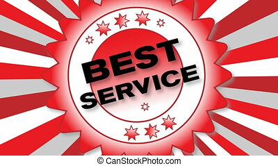Best Service - animated button