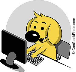 Smart Dog with Computer