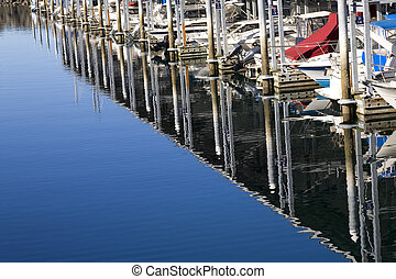 Marina Reflections Boats Edmonds Washington - Boats Dock...