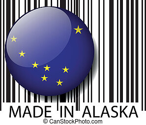 Made in Alaska barcode Vector illustration