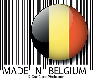 Made in Belgium barcode. Vector illustration