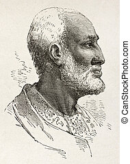 Ghiorghis - Ouelda Ghiorghis old engraved portrait, notable...