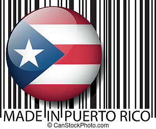 Made in Puerto Rico barcode Vector illustration