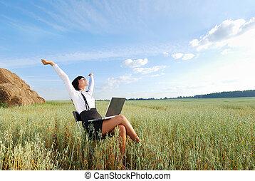 trabajando, Agricultura, campo