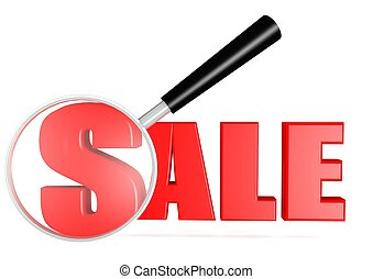 Sale searching - Rendered artwork with white background