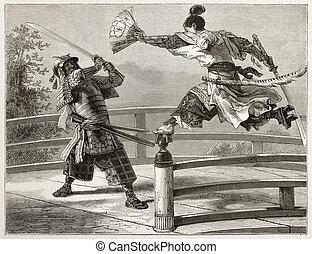 Yoshitsune - Youshitsune samurai fighting, great and popular...