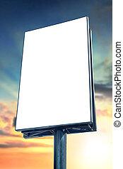 Blank billboard against sunset sky, for more billboard visit...