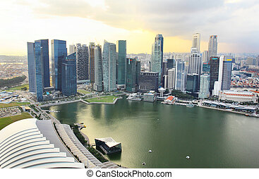 Singapore - beautiful view of buildings in singapore from...