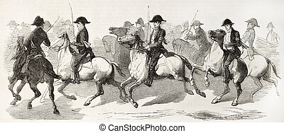 Equestrian escort provided by butchers corporation of...