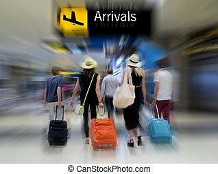 Airline Passengers - Airline passengers in the airport