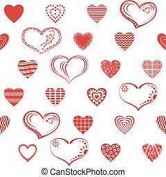Valentine heart, seamless - Valentine seamless with...