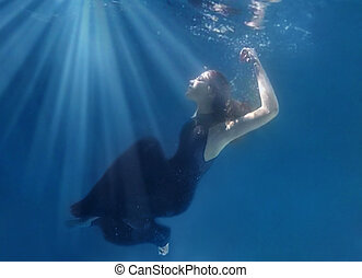 Fantasy Underwater Image of a Woman - Underwater Image of a...
