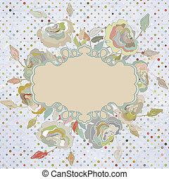 Stylish floral background. EPS 8