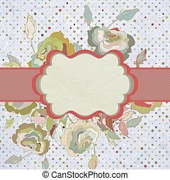 Vintage border with flower. EPS 8