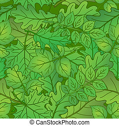 Leaves of plants, seamless, summer - Summer background with...