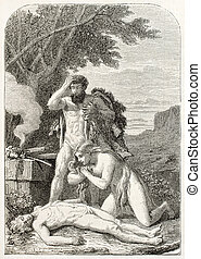Abel death - Adam and Eve keep watching dead Abel Created by...