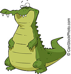 Caiman on a white background vector illustration