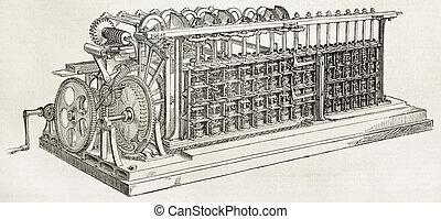 Scheutzian calculation engine - Old calculation engine...