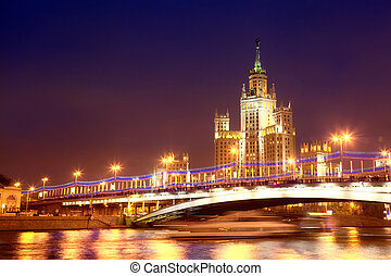 High-rise building on Kotelnicheskaya Embankment in Moscow...
