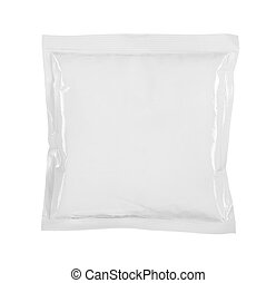 food packaging - blank white product packaging on white...