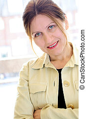 Portrait of a mature woman - Portrait of a mature smiling...