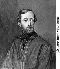 Georg Jung 1814-1886 on engraving from 1859 Prussian...