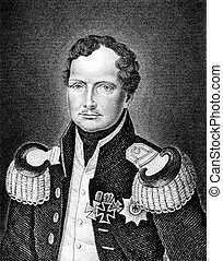 Frederick William III 1770-1840 on engraving from 1859 King...