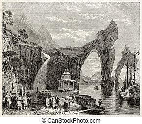 Chinese landscape - Old Chinese landscape (Thai-Hou lake)....