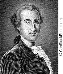 Johann Georg Ritter von Zimmermann (1728-1795) on engraving...