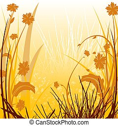 Floral Sunlit Countr - Floral background 24 - illustration...