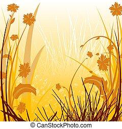 Floral Sunlit Countr - Floral background 24 - illustration....