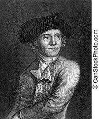 John Paul Jones 1747-1792 on engraving from 1859 Scottish...