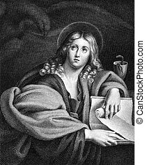 John the Evangelist 1-100 on engraving from 1859 Engraved by...