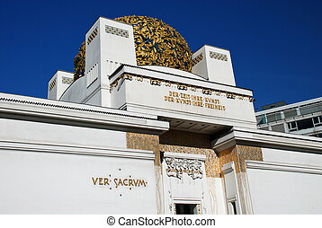 Detail of Secession hall, Vienna - The Secession building is...