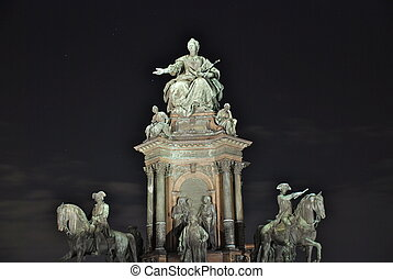 Maria Theresia monument, Vienna - 13 May 1888 saw the...