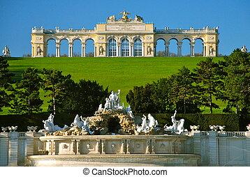 Gloriette, Schonbrunn park, Vienna - Schonbrunn Palace is a...