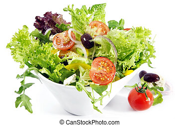 Tossed Salad - Tossed green salad, with cherry tomatoes,...